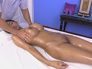 Thai girl enjoys massage of skilled guy